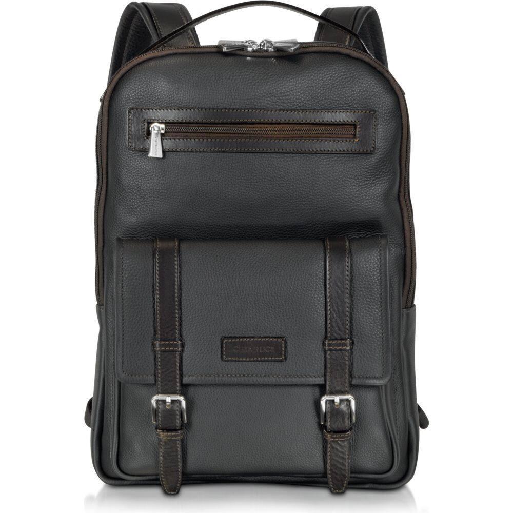 激安特価 キアルージ メンズ Chiarugi メンズ キアルージ バックパック・リュック バッグ and【Black and Brown Leather Backpack】Black, 家具のファンタス:e79dea10 --- askamore.com