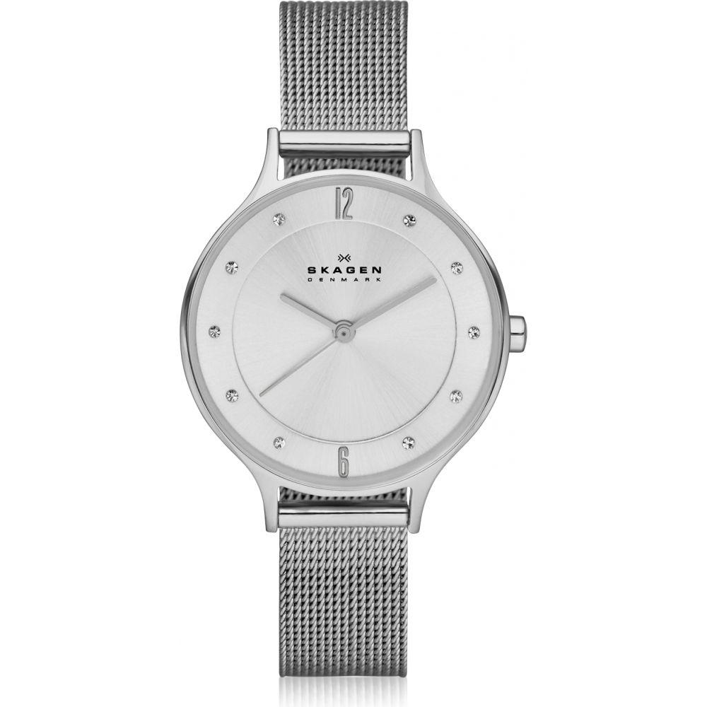 スカーゲン Skagen レディース 腕時計 ブレスレットウォッチ【Anita Silvertone Stainless Steel Watch w/Mesh Bracelet Band】Silver