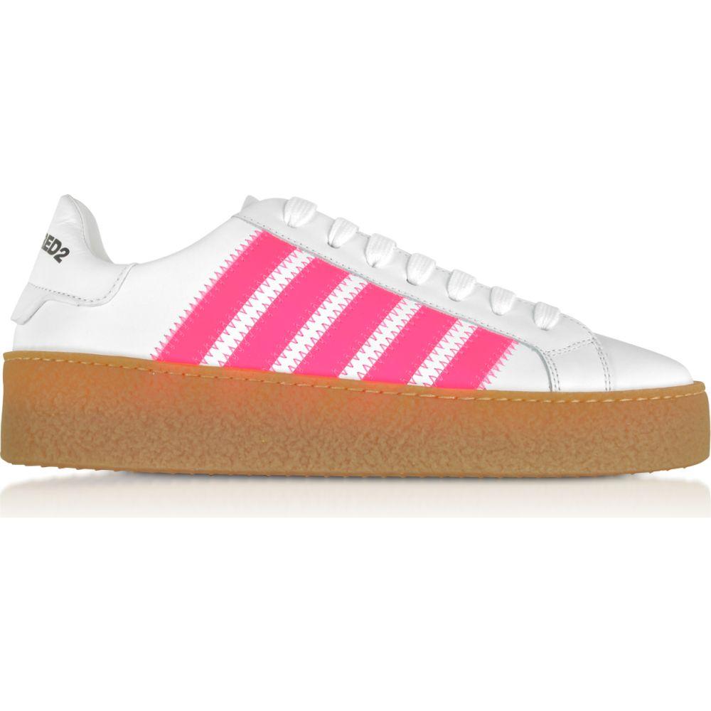 ディースクエアード DSquared2 レディース スニーカー シューズ・靴【White Leather Sneakers】White