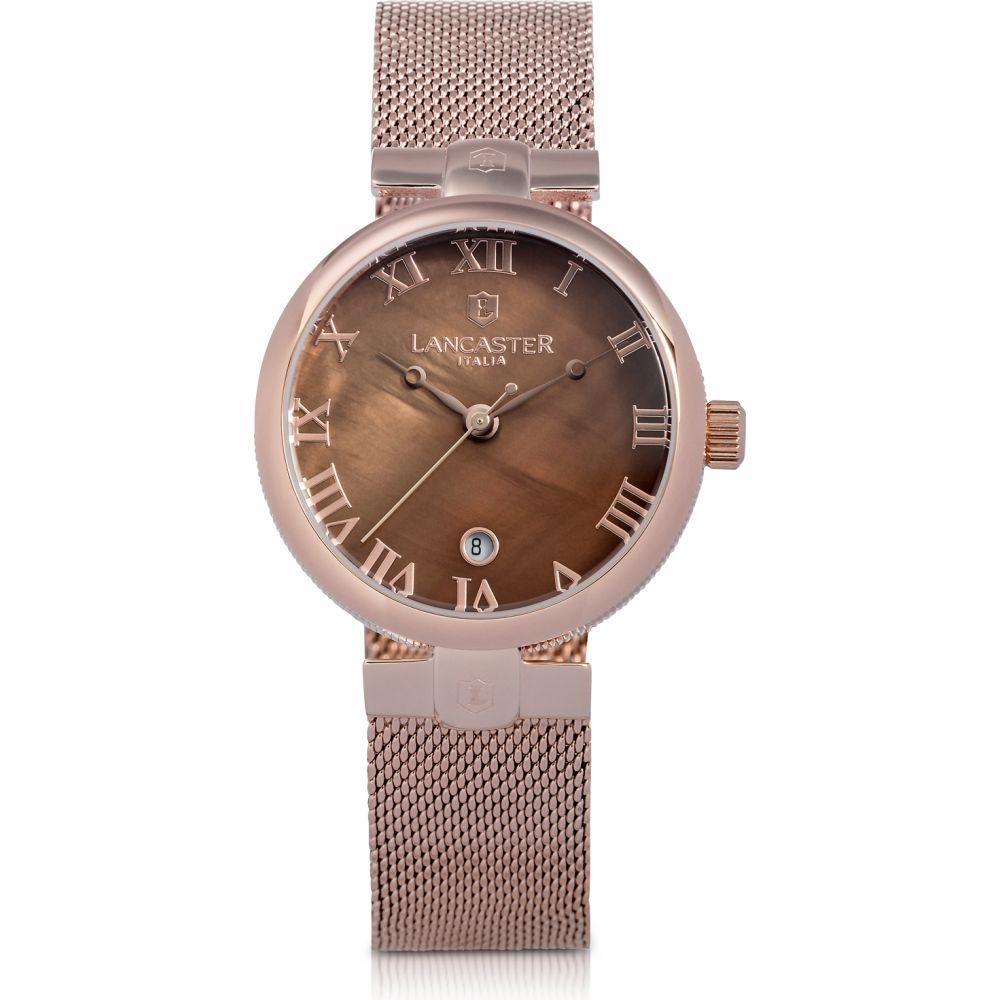 ランカスター Lancaster レディース 腕時計 【Chimaera Rose Gold Stainless Steel Watch w/Brown Dial】Pink