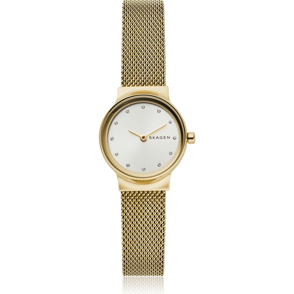 スカーゲン Skagen レディース 腕時計 【Freja Gold-Tone Steel-Mesh Watch】Gold