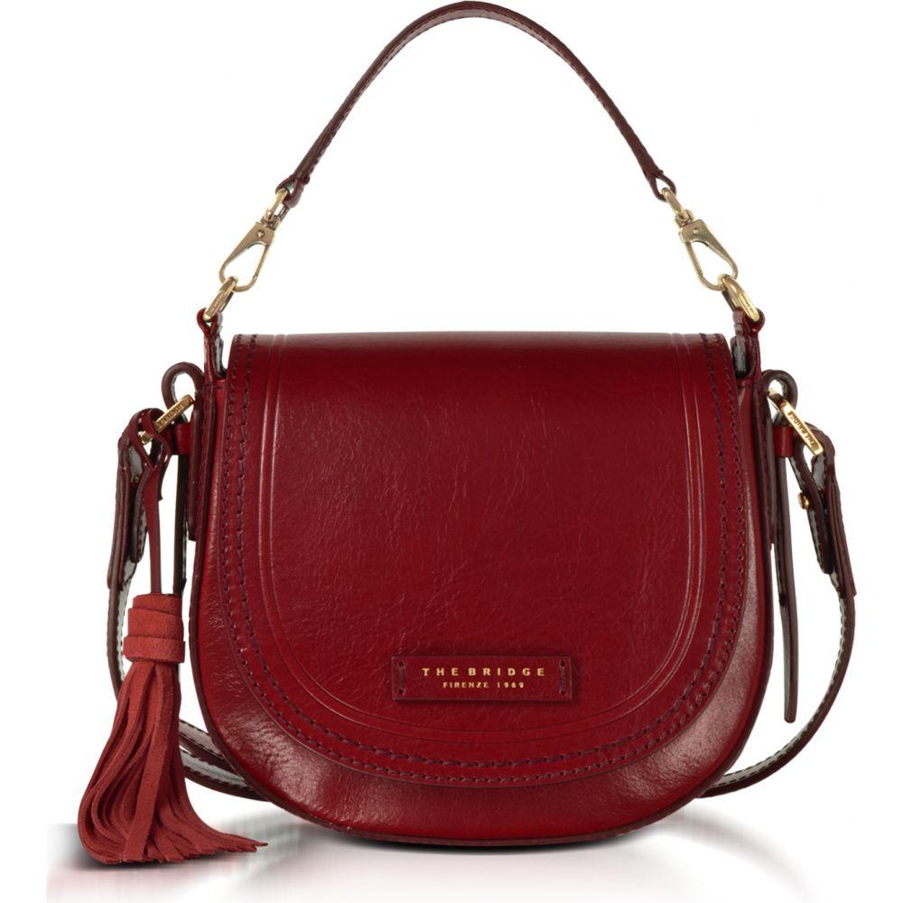 ブリッジ The Bridge レディース ショルダーバッグ メッセンジャーバッグ バッグ【Pearldistrict Medium Leather Messenger Bag w/Tassels】Cherry