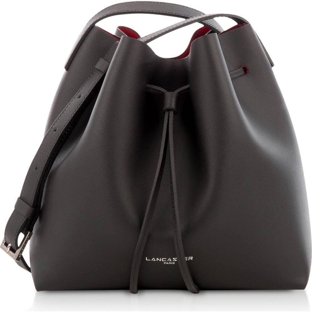 Saffiano Paris ランカスター レディース Lancaster バケットバッグ Bag】Black Tone バッグ【Pur ショルダーバッグ & Bucket Element Small two