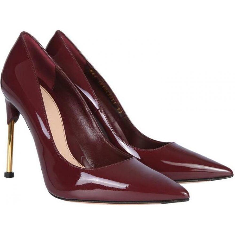 アレキサンダー マックイーン Alexander McQueen レディース パンプス シューズ・靴【Burgundy Patent Leather Pumps w/Metal Heel】Bordeaux
