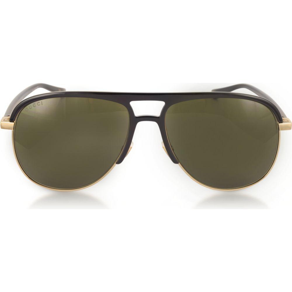 グッチ Gucci メンズ メガネ・サングラス アビエイター【GG0292S Metal and Acetate Frame Aviator Sunglasses】Black/Black