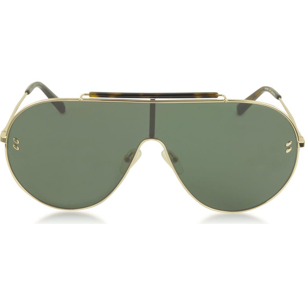ステラ マッカートニー Stella McCartney レディース メガネ サングラス アビエイター SC0056S Metal Aviator Sunglasses Gold Green