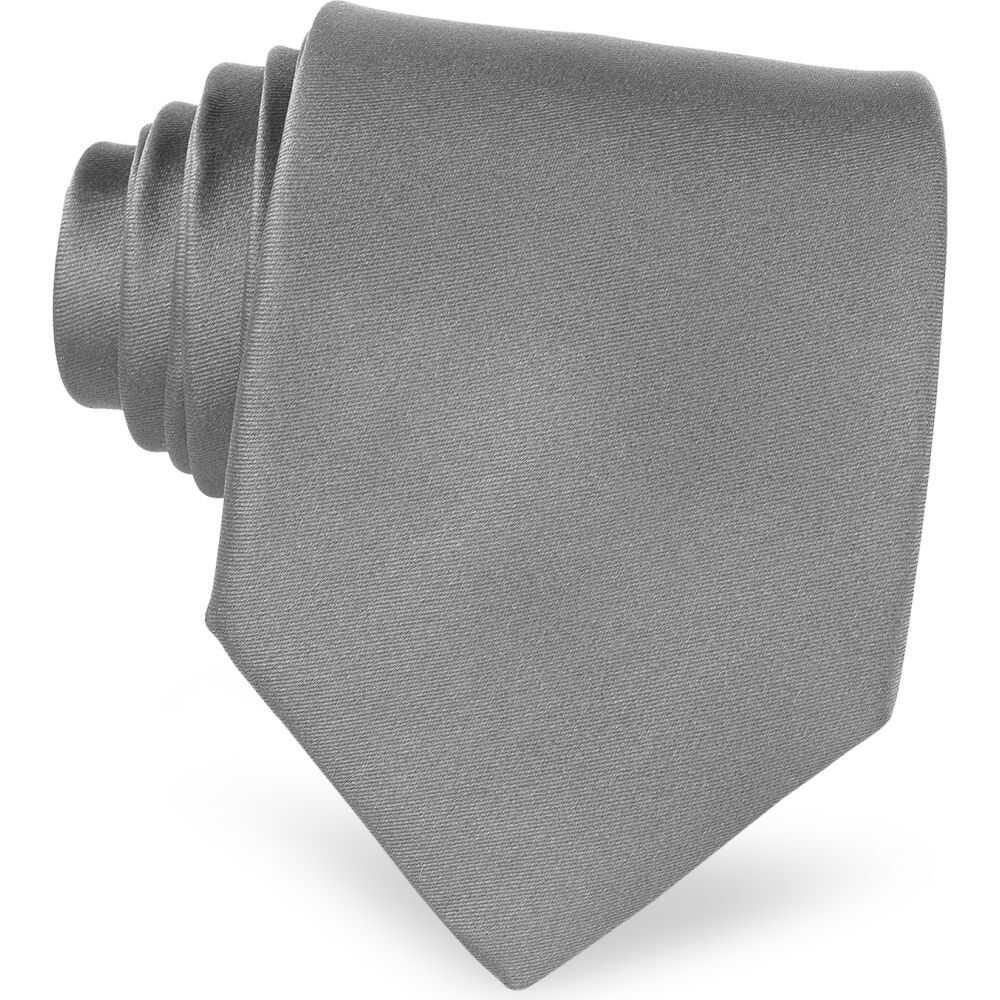 フォルツィエリ Forzieri メンズ ネクタイ 【Twill Silk Solid Tie】Dark Gray