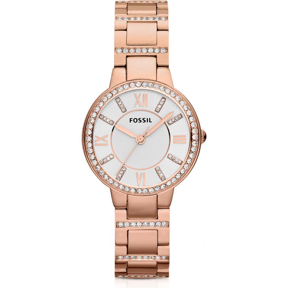 フォッシル Fossil レディース 腕時計 【Virginia Three Hand Rose Golden Stainless Steel Watch】Pink