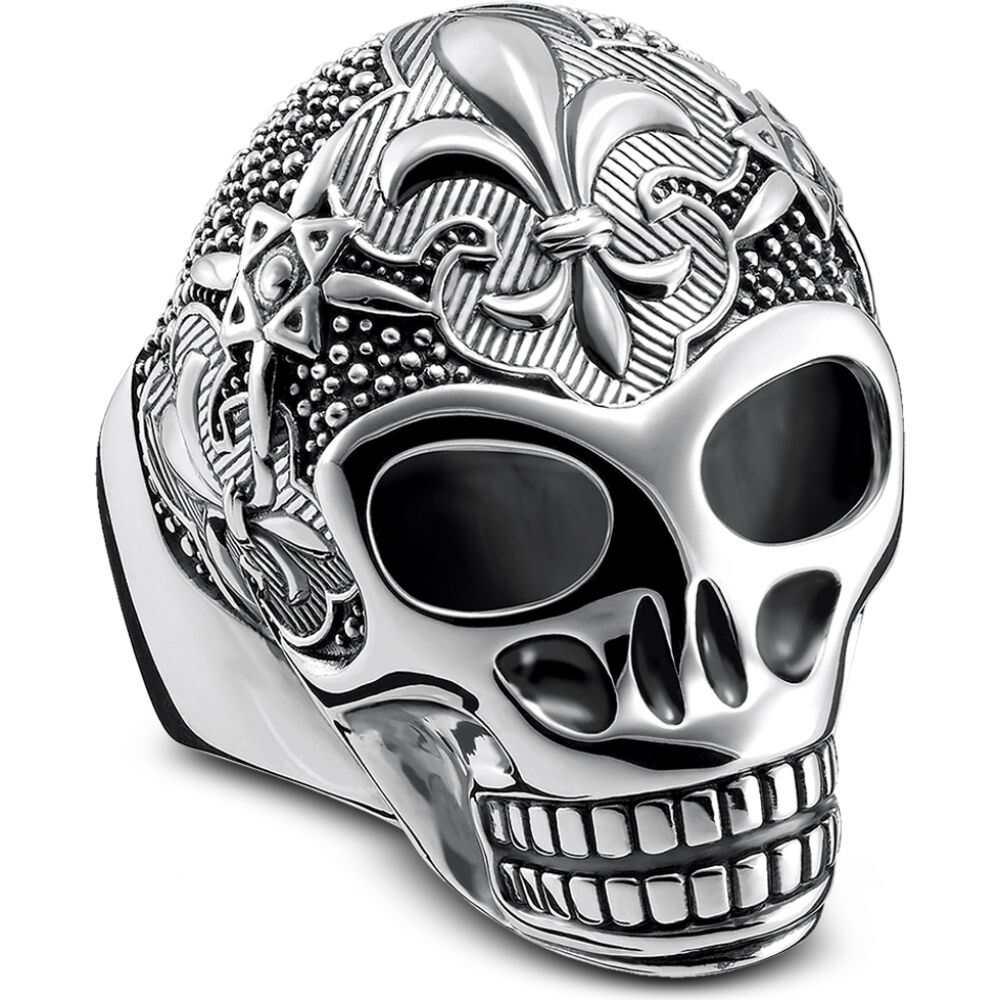 トーマスサボ メンズ ジュエリー アクセサリー 指輪 リング サイズ交換無料 Skull Sterling Sabo Lily 出群 Silver Thomas 海外 Ring