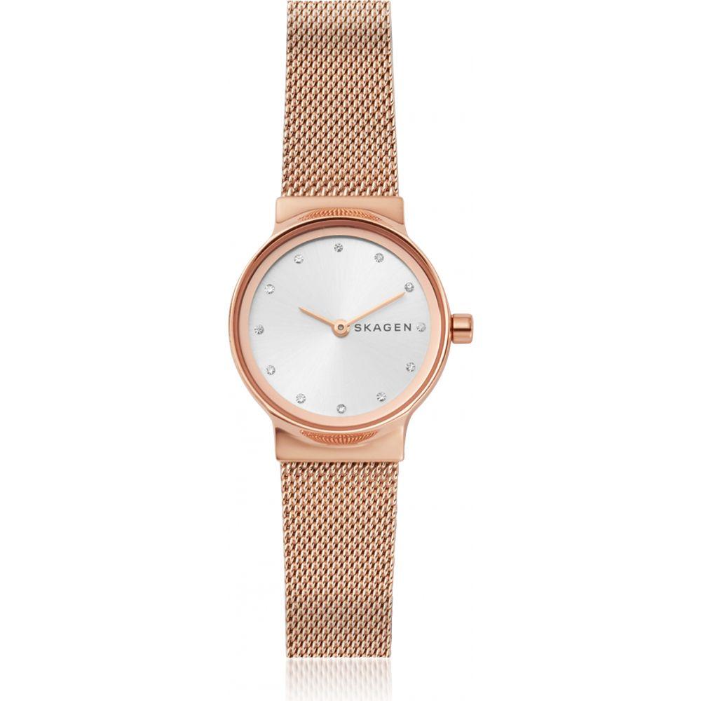 スカーゲン Skagen レディース 腕時計 【Freja Rose Gold-Tone Steel-Mesh Watch】Rose gold