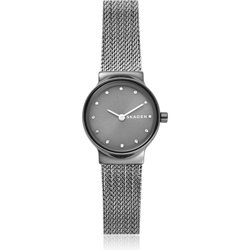 スカーゲン Skagen レディース 腕時計 【Freja Dark Gray Steel-Mesh Watch】Gunmetal