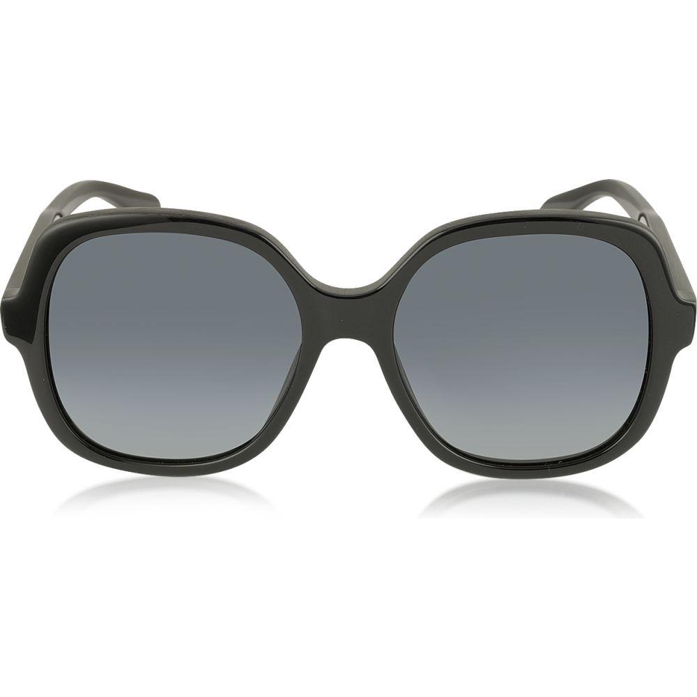 マーク ジェイコブス Marc Jacobs レディース メガネ・サングラス スクエアフレーム【MJ 589/S 807HD Rounded Square Black Oversized Acetate Sunglasses】black/shaded smoke