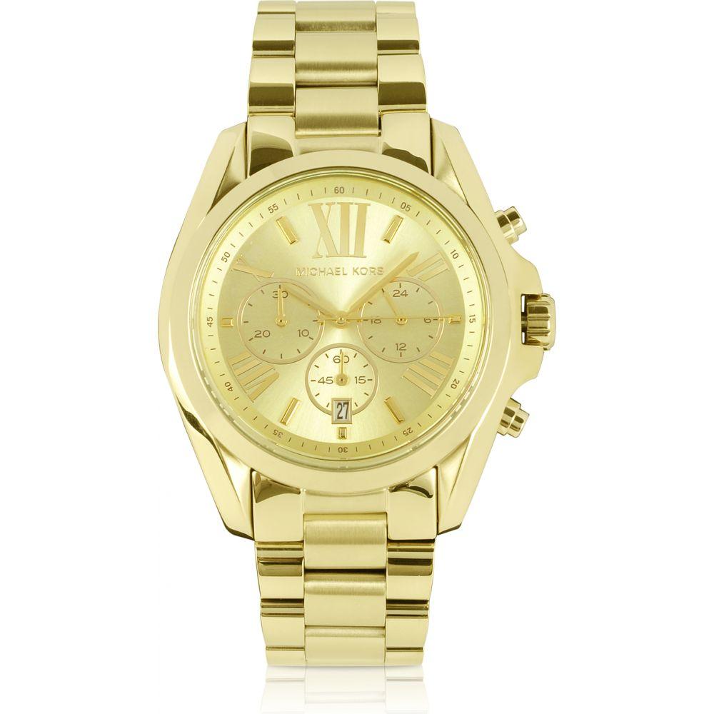 マイケル コース Michael Kors レディース 腕時計 クロノグラフ【Mid-Size Bradshaw Chronograph Watch】Gold