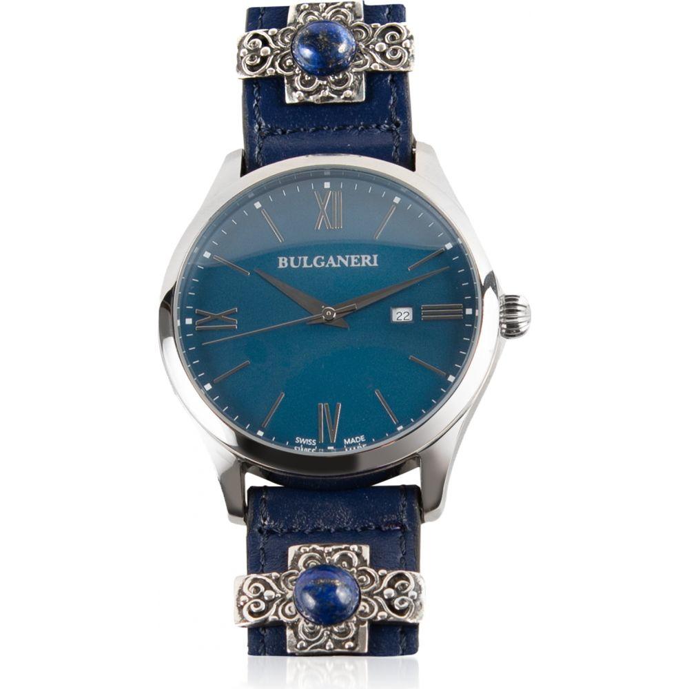 人気特価激安 ブルガネリ Bulganeri メンズ 腕時計 ブレスレットウォッチ【Baia Blu Stainless Steel Watch w/Silver and Lapislazzuli Leather Bracelet】Blue  lh2-ff90ed5f33 - twothousandisles.com