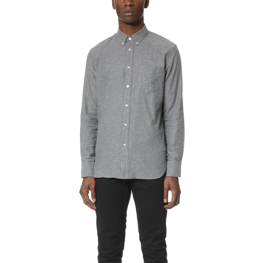 ラグアンドボーン メンズ トップス シャツ【Standard Issue Lightweight Flannel Shirt】Dark Grey