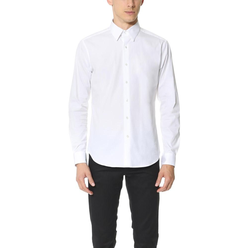 セオリー メンズ トップス シャツ【Sylvain Solid Dress Shirt】White