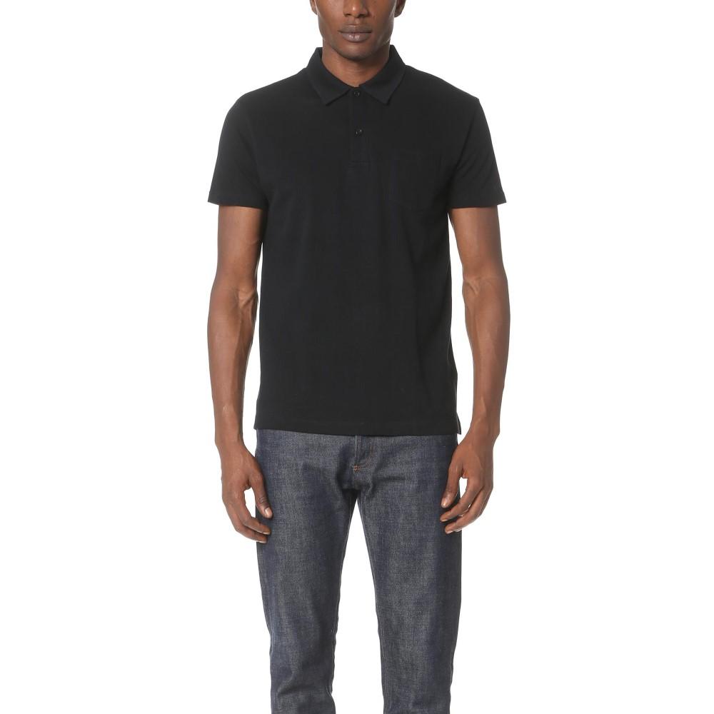 サンスペル メンズ トップス ポロシャツ【Short Sleeve Riviera Polo Shirt】Black