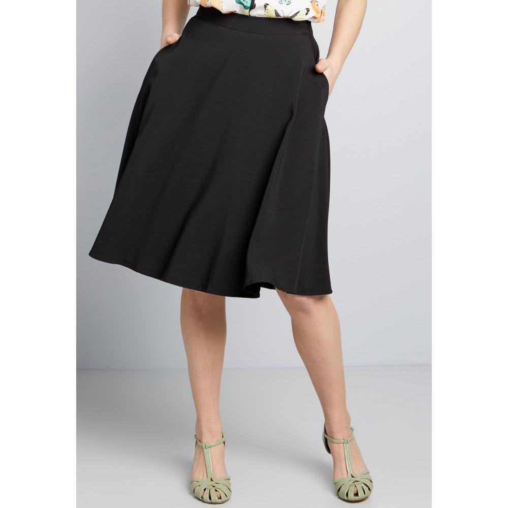 モドクロス ModCloth レディース ひざ丈スカート スカート【Just This Sway A-Line Skirt】black