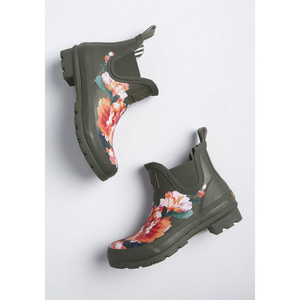 ジュールズ Joules レディース レインシューズ・長靴 シューズ・靴【Splash Time Waterproof Rain Boot】green floral print