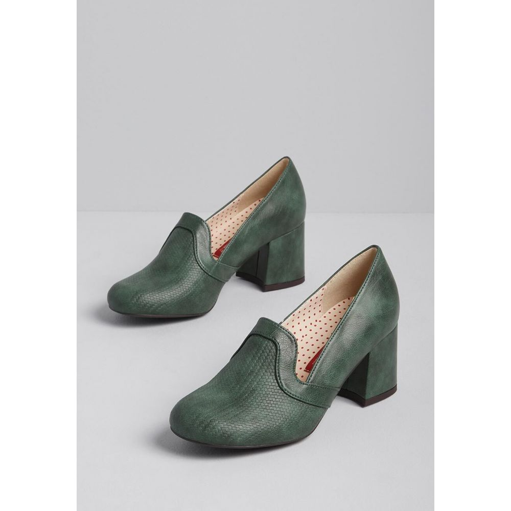 ベイト B.A.I.T. Footwear レディース ヒール シューズ・靴【Just Getting Started Faux-Leather Heel】green