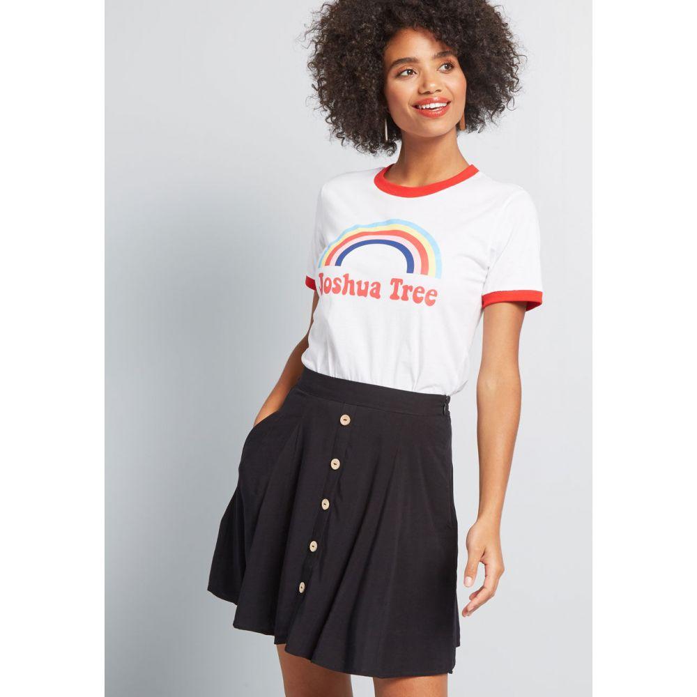 モドクロス ModCloth レディース ミニスカート スケータースカート スカート【You Sassy Thing Skater Skirt】black