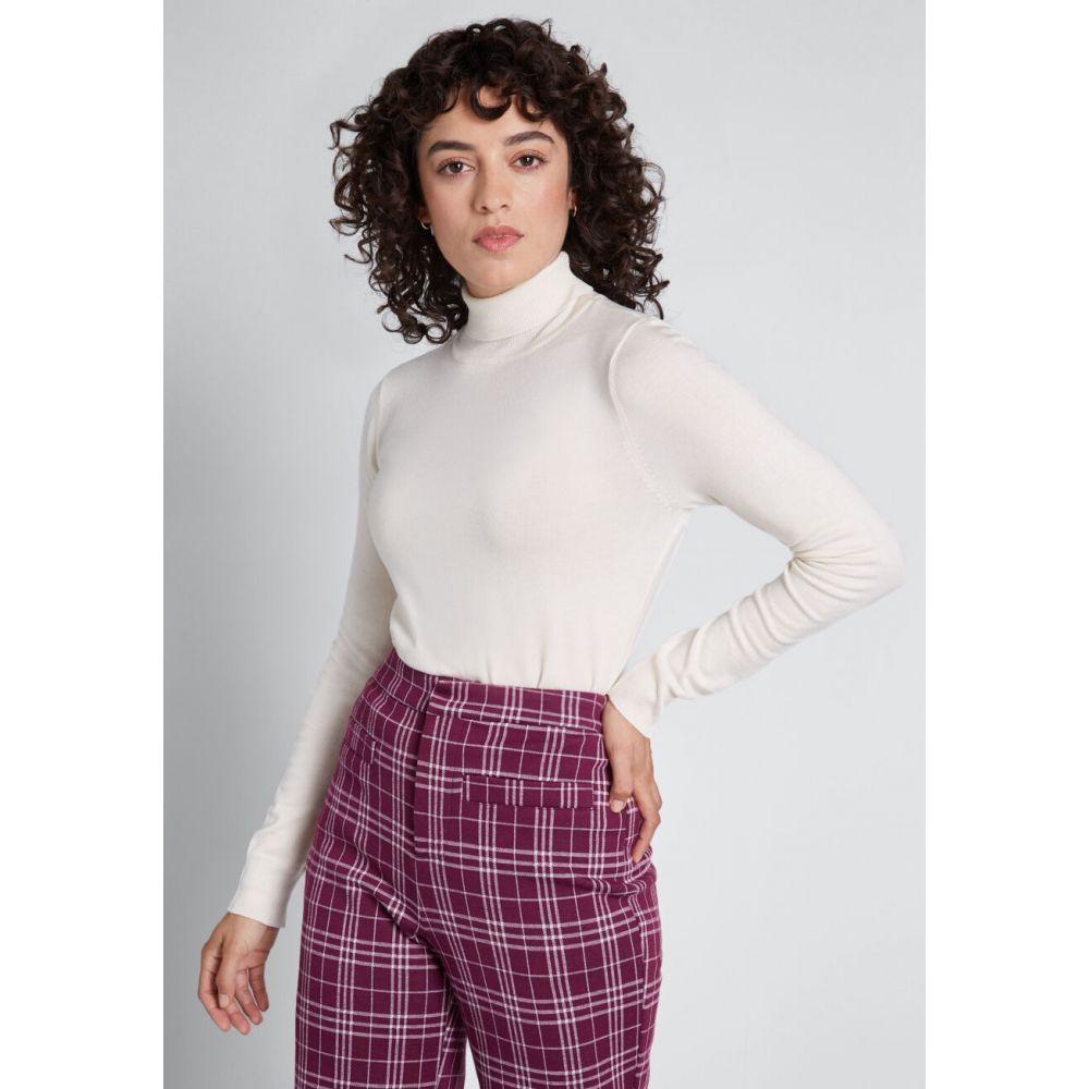 レディース ニット・セーター トップス【Charter School Turtleneck Sweater】ivory