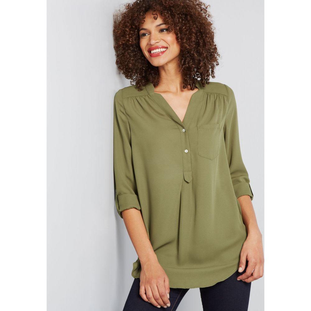 レディース チュニック トップス【Pam Breeze-ly Long Sleeve Tunic】olive