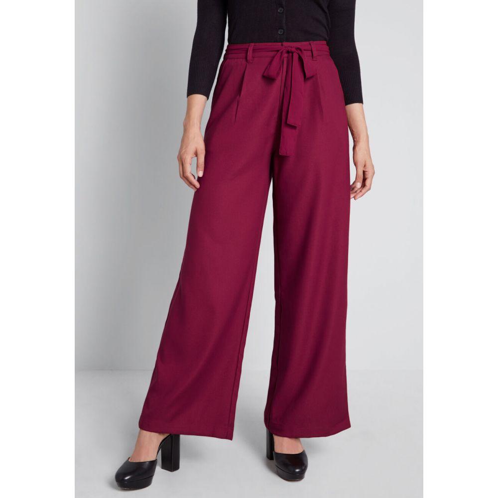 モドクロス ModCloth レディース ボトムス・パンツ 【The Savannah Wide-Leg Pants】burgundy