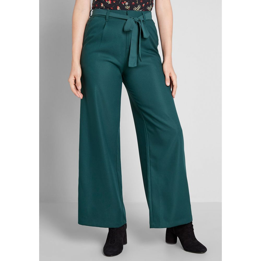 モドクロス ModCloth レディース ボトムス・パンツ 【The Savannah Wide-Leg Pants】hunter green