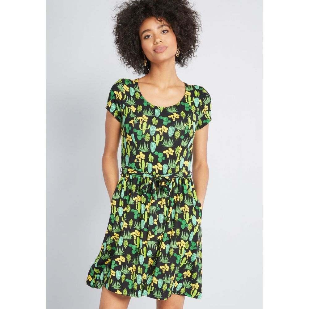 モドクロス ModCloth レディース ワンピース ワンピース・ドレス【Whimsical Fit Knit Dress】green