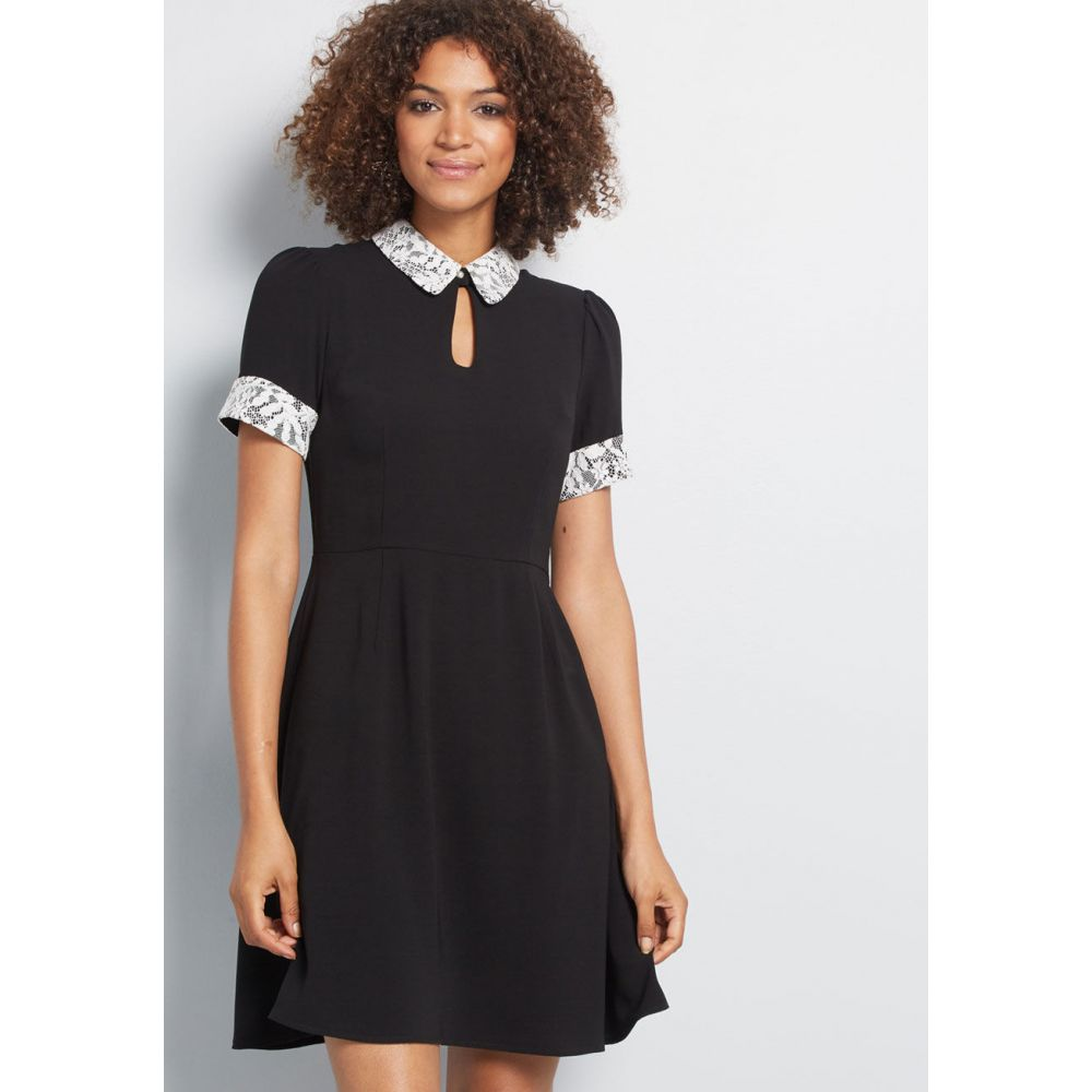 モドクロス ModCloth レディース ワンピース ワンピース・ドレス【Call It Classy A-Line Dress】black