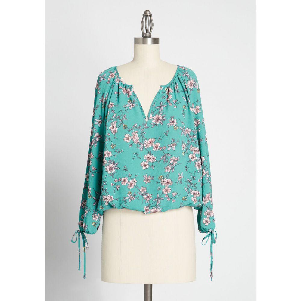 ビービーダコタ BB Dakota レディース ブラウス・シャツ トップス【cherry blossom festival crepe blouse】blue floral