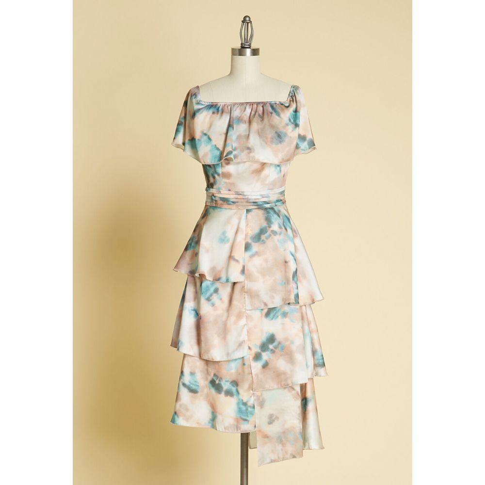リトル ミストレス Little Mistress レディース ワンピース ワンピース・ドレス【satin surprise off-the-shoulder dress】multi