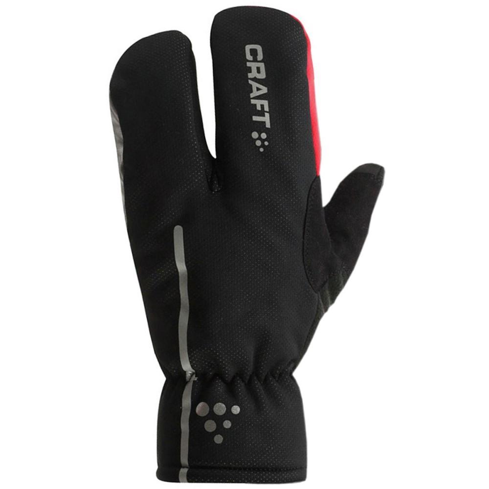 クラフト Craft メンズ サイクリング グローブ【Siberian Split Finger Glove】Black/Bright Red