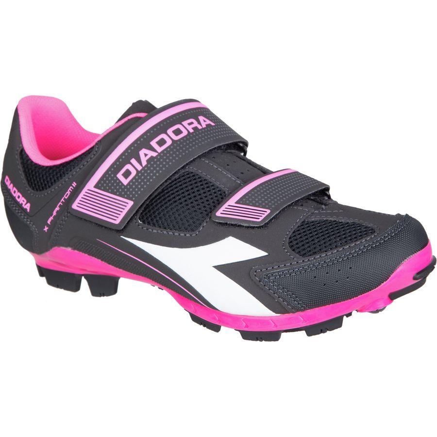 ディアドラ Diadora レディース サイクリング シューズ・靴【X-Phantom II Cycling Shoe】Black/White/Pink Fluo