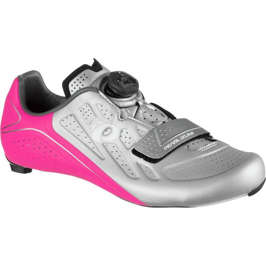 パールイズミ Pearl Izumi レディース サイクリング シューズ・靴【Elite Road V5 Cycling Shoe】Silver/Pink Glo