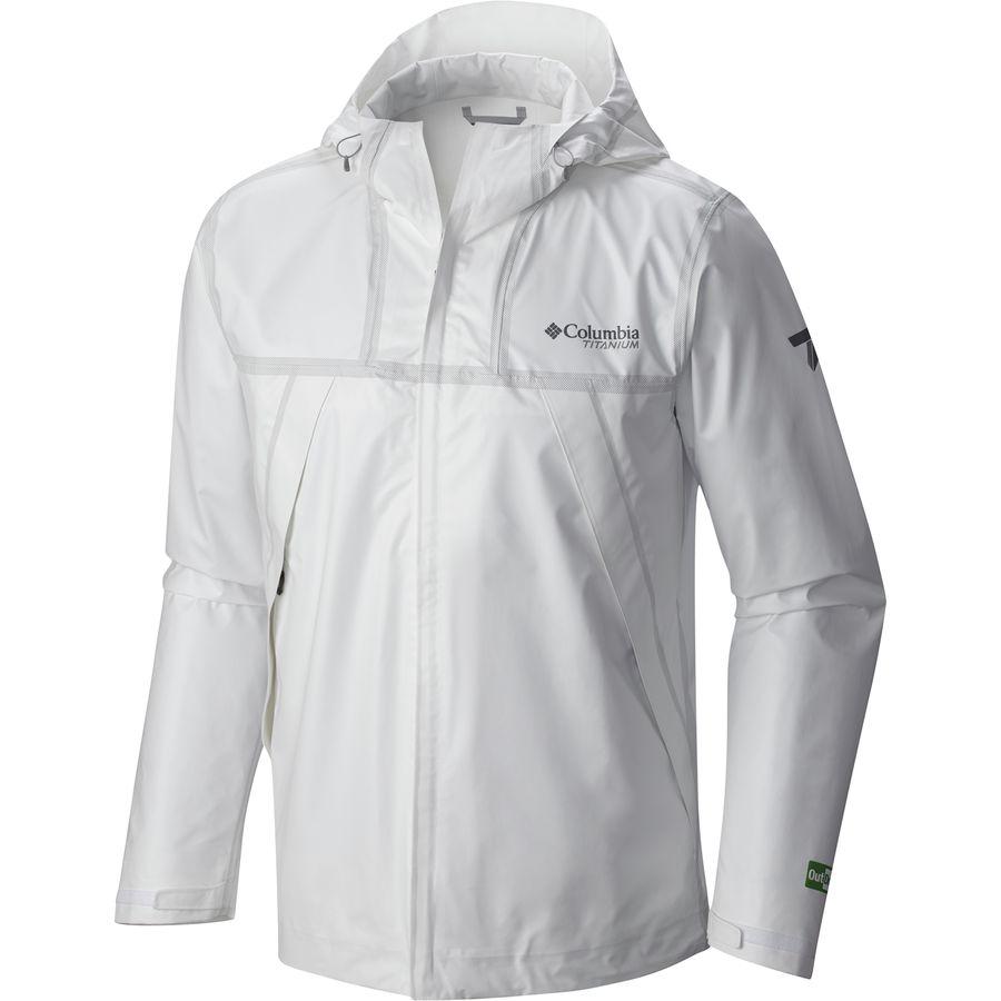 コロンビア Columbia メンズ アウター レインコート【Outdry Ex Eco Shell Jacket】White Undyed