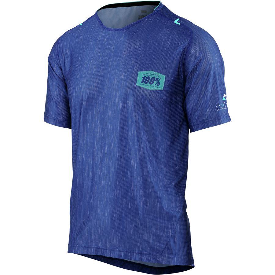 ヒャクパーセント 100% メンズ サイクリング ウェア【Celium All Mountain Jersey】Blue/Heather