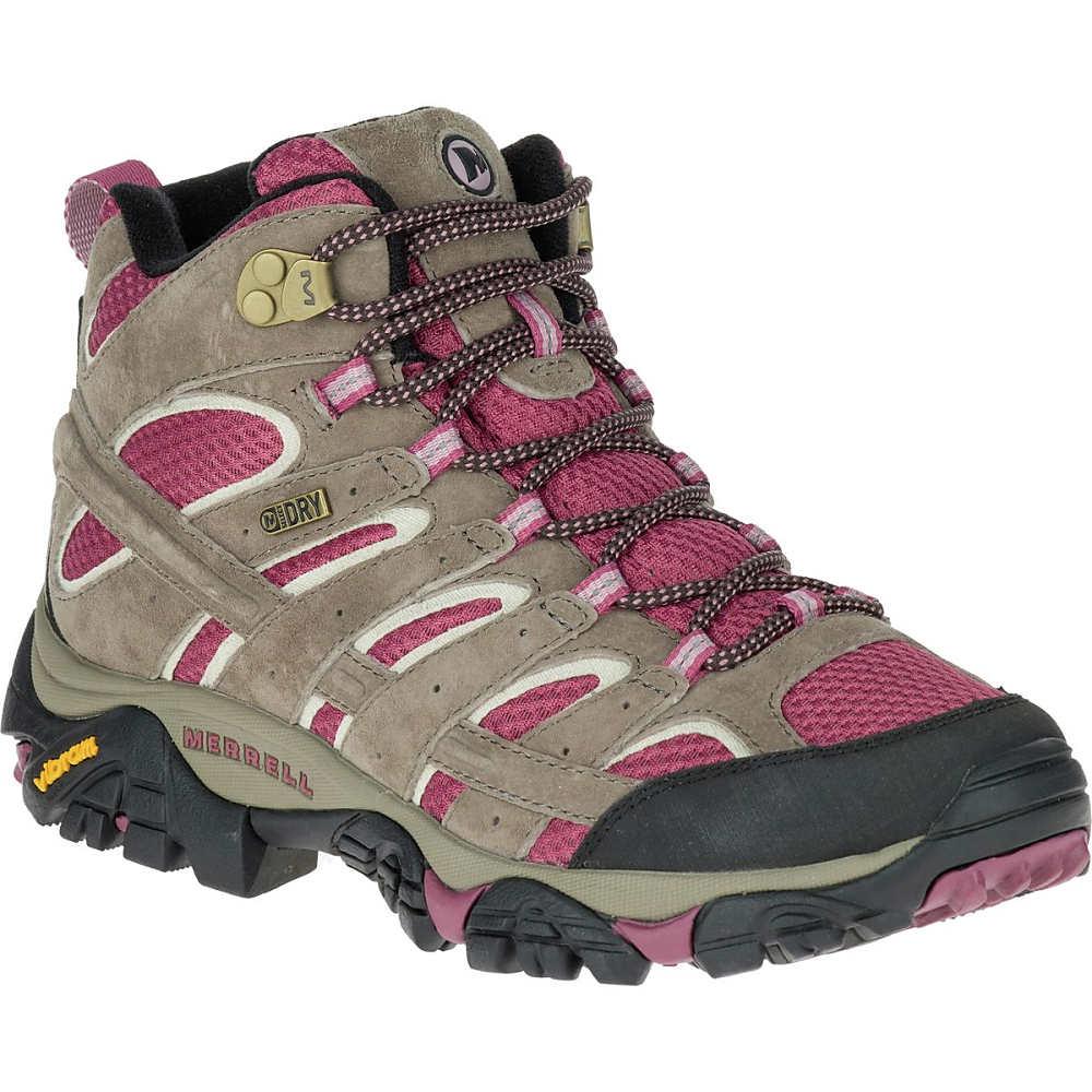 メレル Merrell レディース ハイキング シューズ・靴【Moab 2 Mid Waterproof Hiking Boot】Boulder/Blush