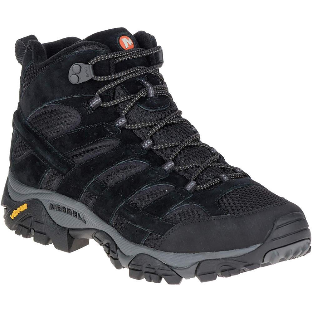 メレル Merrell メンズ ハイキング シューズ・靴【Moab 2 Mid Vent Hiking Boot】Black Night