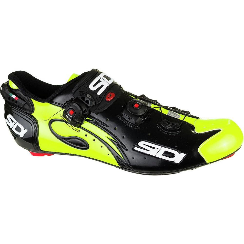 シディー Sidi メンズ サイクリング シューズ・靴【Wire Vent Carbon Shoe】Black/Flo Yellow