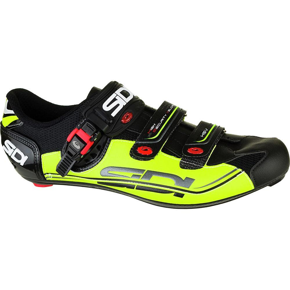 シディー Sidi メンズ サイクリング シューズ・靴【Genius Fit Carbon Shoe】Black/Yellow/Black