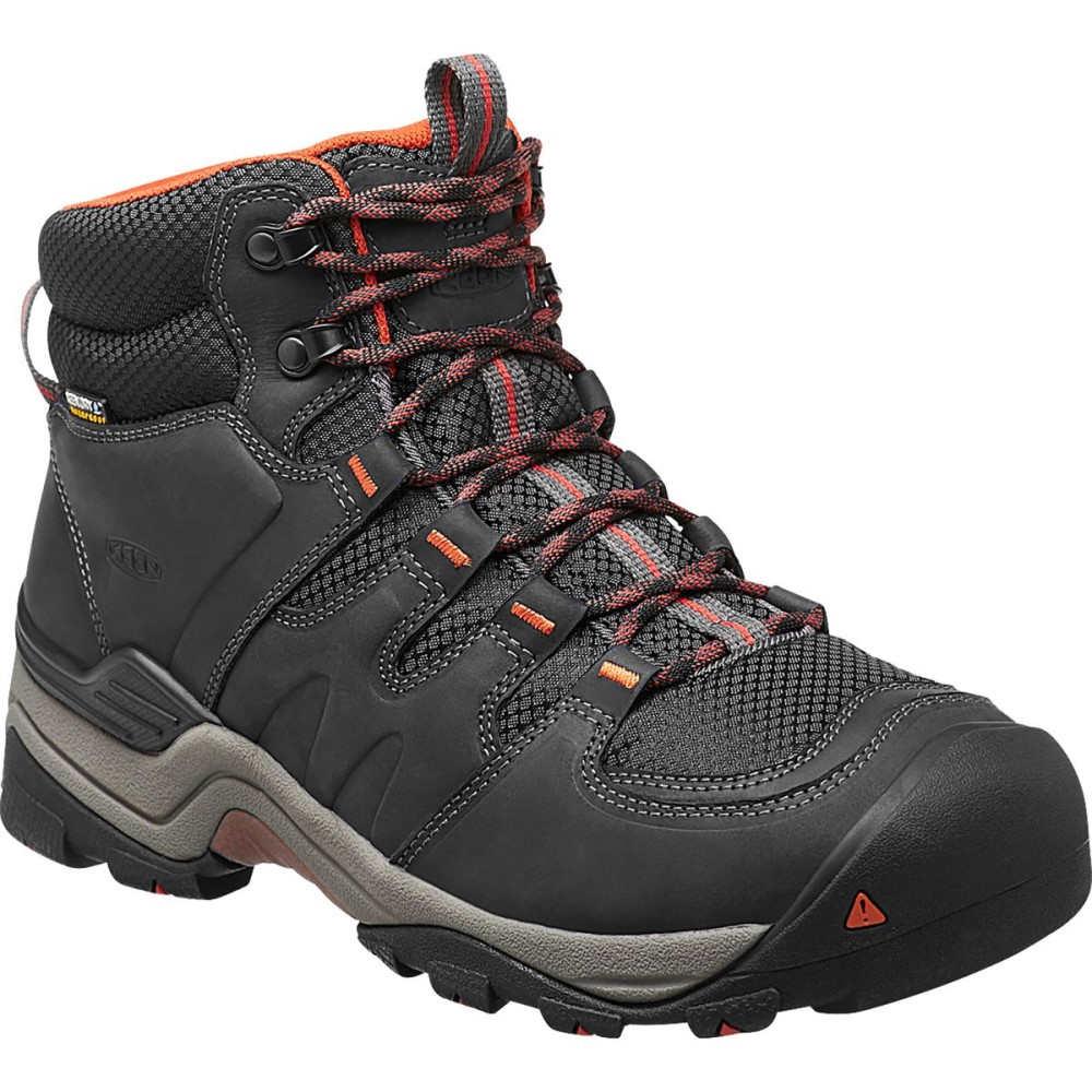 キーン KEEN メンズ ハイキング シューズ・靴【Gypsum II Mid Waterproof Hiking Boots】India Ink/Burnt Ochre