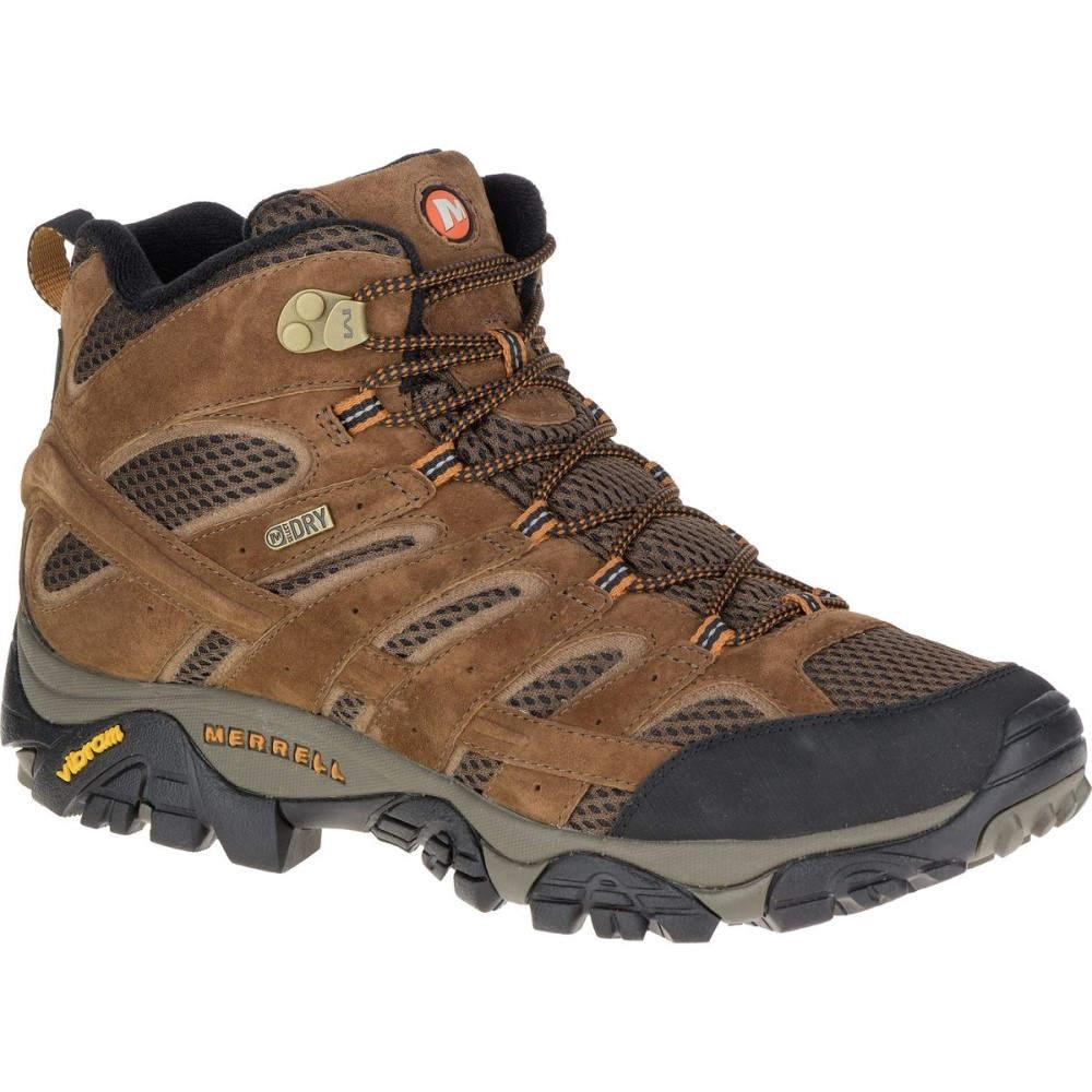 メレル Merrell メンズ ハイキング シューズ・靴【Moab 2 Mid Waterproof Hiking Boots】Earth