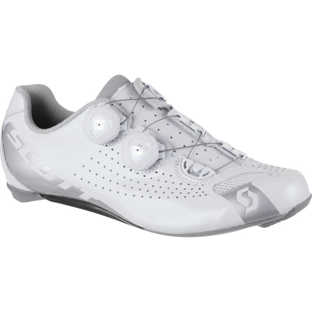 スコット Scott レディース サイクリング シューズ・靴【Road RC Lady Shoe】Gloss White/Gloss Silver