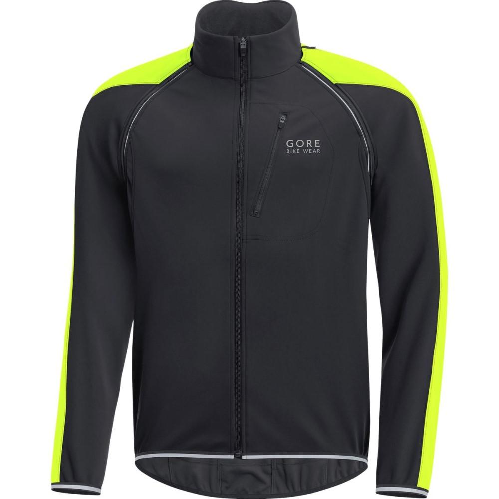 ゴアバイクウェア Gore Bike Wear メンズ サイクリング ウェア【Phantom Plus Gore Windstopper Zip - Off Jacket】Black/Neon Yellow