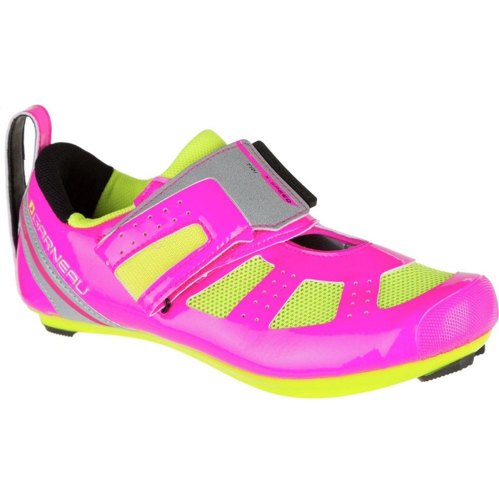 ルイスガーナー Louis Garneau レディース トライアスロン シューズ・靴【Tri X - Speed III Shoe】Pink Glow/Bright Yellow