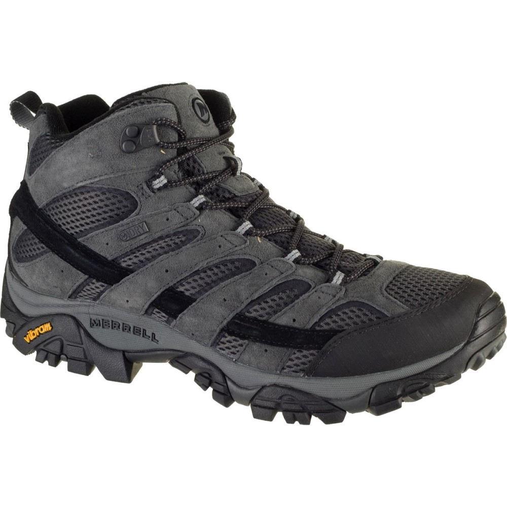メレル Merrell メンズ ハイキング シューズ・靴【Moab 2 Mid Waterproof Hiking Boots】Granite
