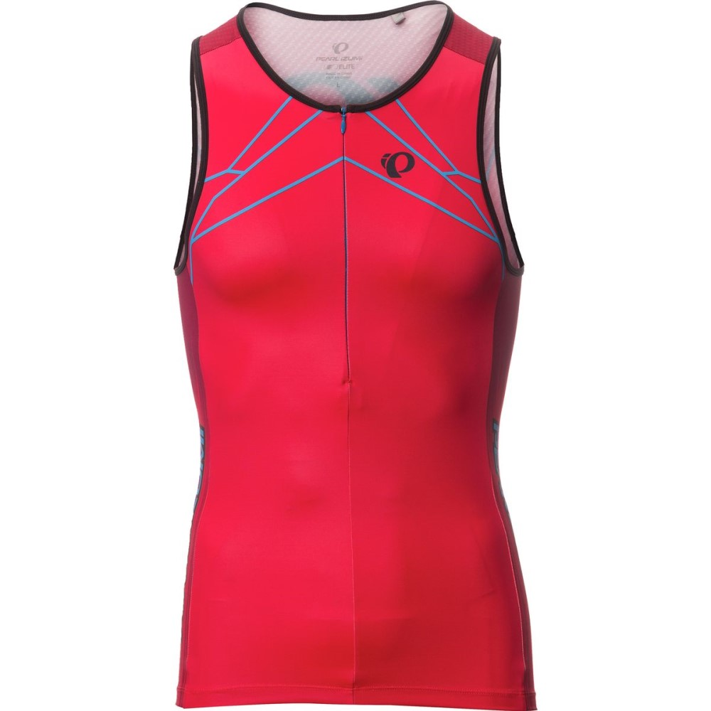 パールイズミ Pearl Izumi メンズ トライアスロン ウェア【ELITE In - R - Cool LTD Tri Singlets】Vaporize True Red