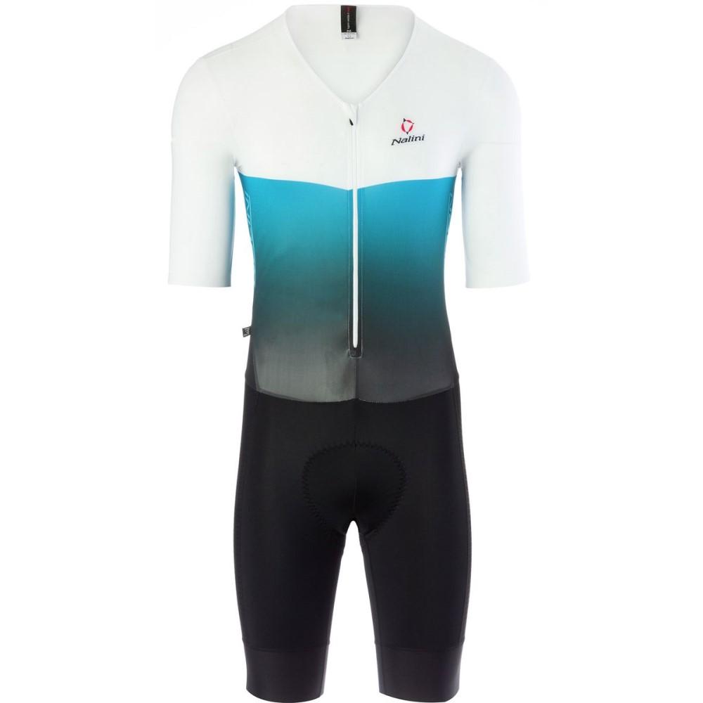 ナリーニ Nalini メンズ サイクリング ウェア【Xblack Body Skinsuits】White/Blue/Black